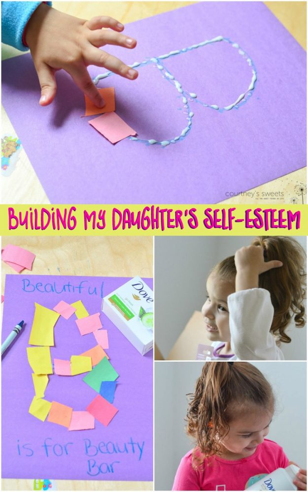 Building my Daughter's Self-Esteem. Encouraging, positive words that begin with the letter B and how to build self-esteem in girls and women with Dove.