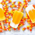 Our Candy Corn Ice Pops on Mini Chef Mondays make a delicious fall treat, especially for Halloween entertaining. We make ice pops regularly and this is a combination of my daughter's favorites! We use fresh fruit and yogurt for the layers. Healthy whole food ingredients for a nutritious dessert.