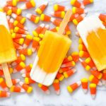 Candy Corn Ice Pops