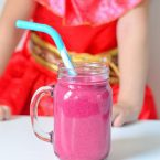 Try our super simple, kid-friendly Dragon Fruit Smoothie Recipe inspired by Elena of Avalor! Our mini chef loves to make smoothie recipes and she loves her new book from Disney with Elena of Avalor, she's their first Latina Princess!