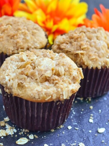 Our Apple Streusel Muffins with Applesauce are moist, packed with flavor, and a tasty recipe to pair with breakfast. Make your favorite delicious and flavorful fall desserts healthier by using applesauce instead of oil and butter.