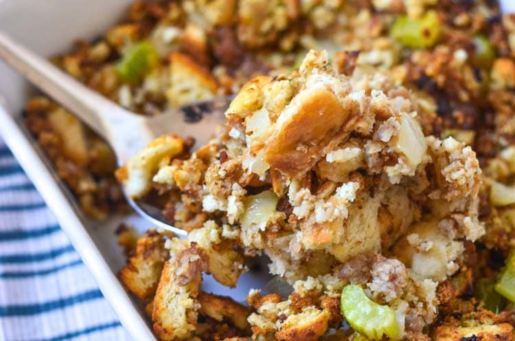 Enjoy our Easy Sausage Stuffing alongside your favorite Thanksgiving ...