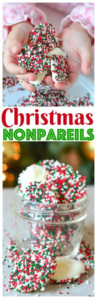 We're getting Merry on Mini Chef Mondays with Christmas Nonpareils! It's a kid-friendly homemade holiday candy recipe
