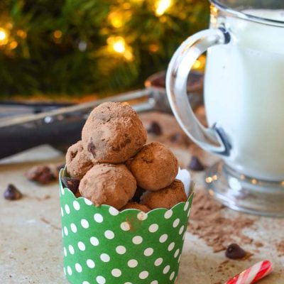 Try our Hot Chocolate Truffle Balls! These are great for a quick drink recipe with warm milk and gift giving during the holiday season.