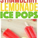 Trying to make healthy food and healthy desserts at home? Our Strawberry Lemonade Ice Pops an easy dessert and great easy healthy snack