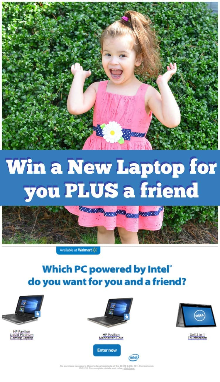Win a new laptop for you and a friend with this Easy Entry Giveaway