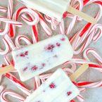 Kid-Friendly Candy Cane Ice Pops recipe. Rasbperry Mint Yogurt Ice Pops make a fun holiday treat.