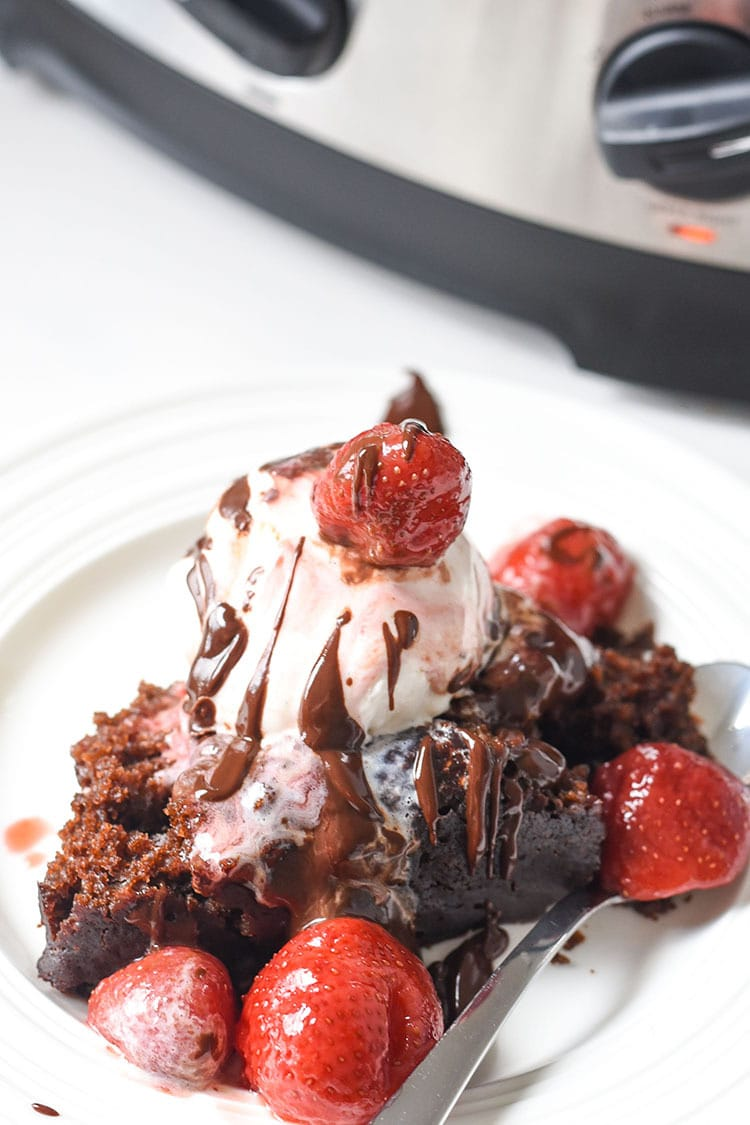 slow cooker chocoalte cake