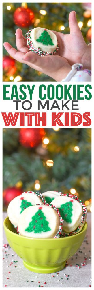 Easy Cookies To Make With Kids. This simple recipe is so easy that kids can make it with just a little help this holiday season!