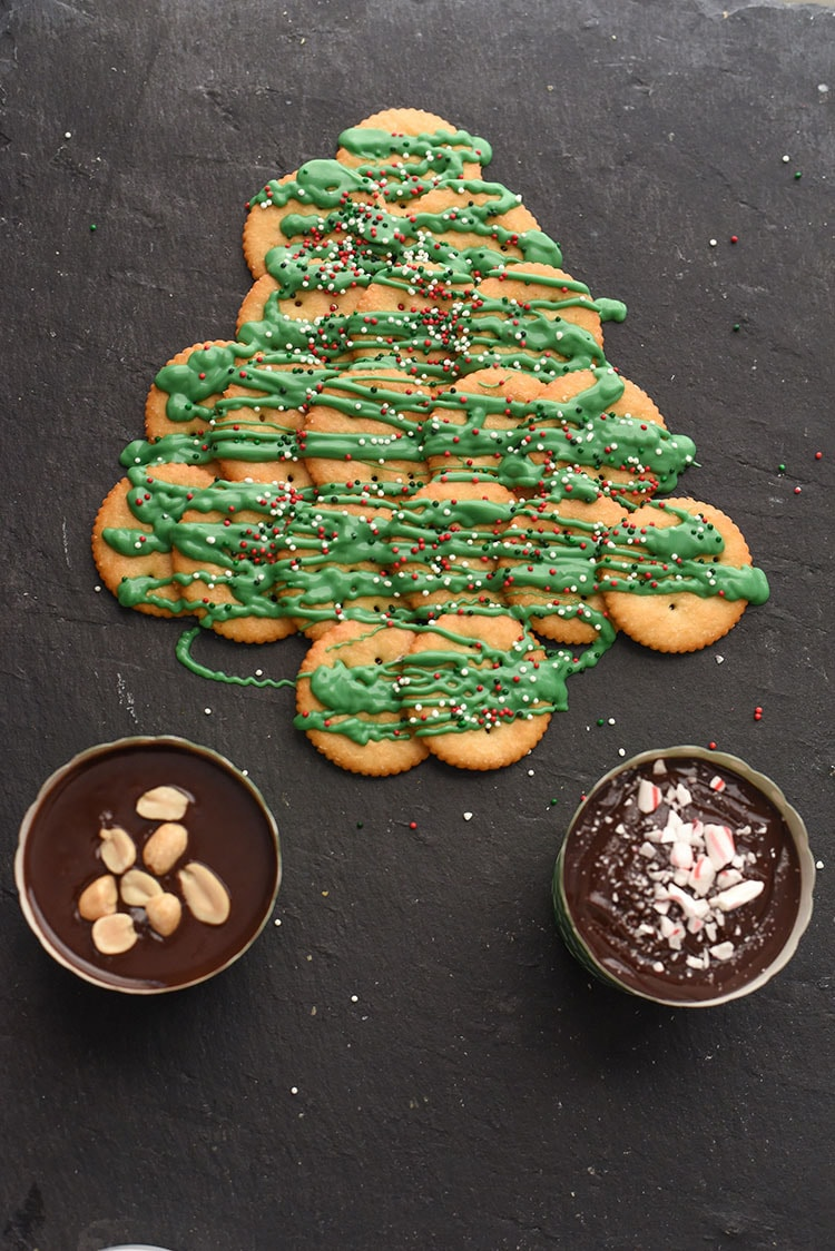 Make a salty and sweet RITZ Cracker Christmas tree recipe to entertain your guests this holiday season.
