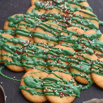 Make a salty and sweet RITZ Crackers Christmas tree recipe to entertain your guests this holiday season.