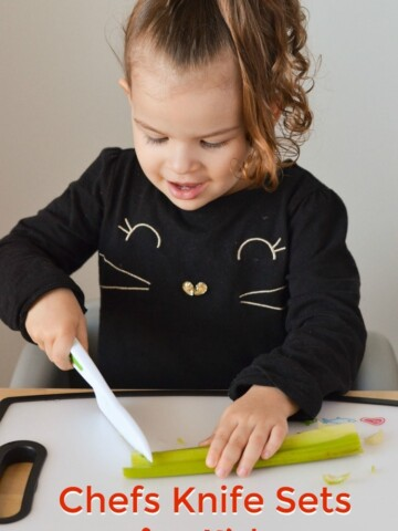 Try out these fun chefs knife sets for kids! Get kids cooking in the kitchen on Mini Chef Mondays with kid-friendly recipes that are easy to make.