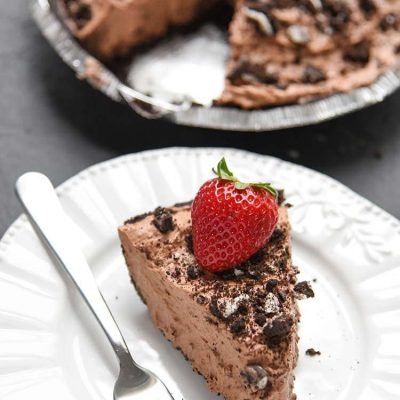 Try our no bake, easy chocolate mousse pie for a fun dessert for the whole family! If you love chocolate recipes, you'll love this pie with an OREO cookie crust!