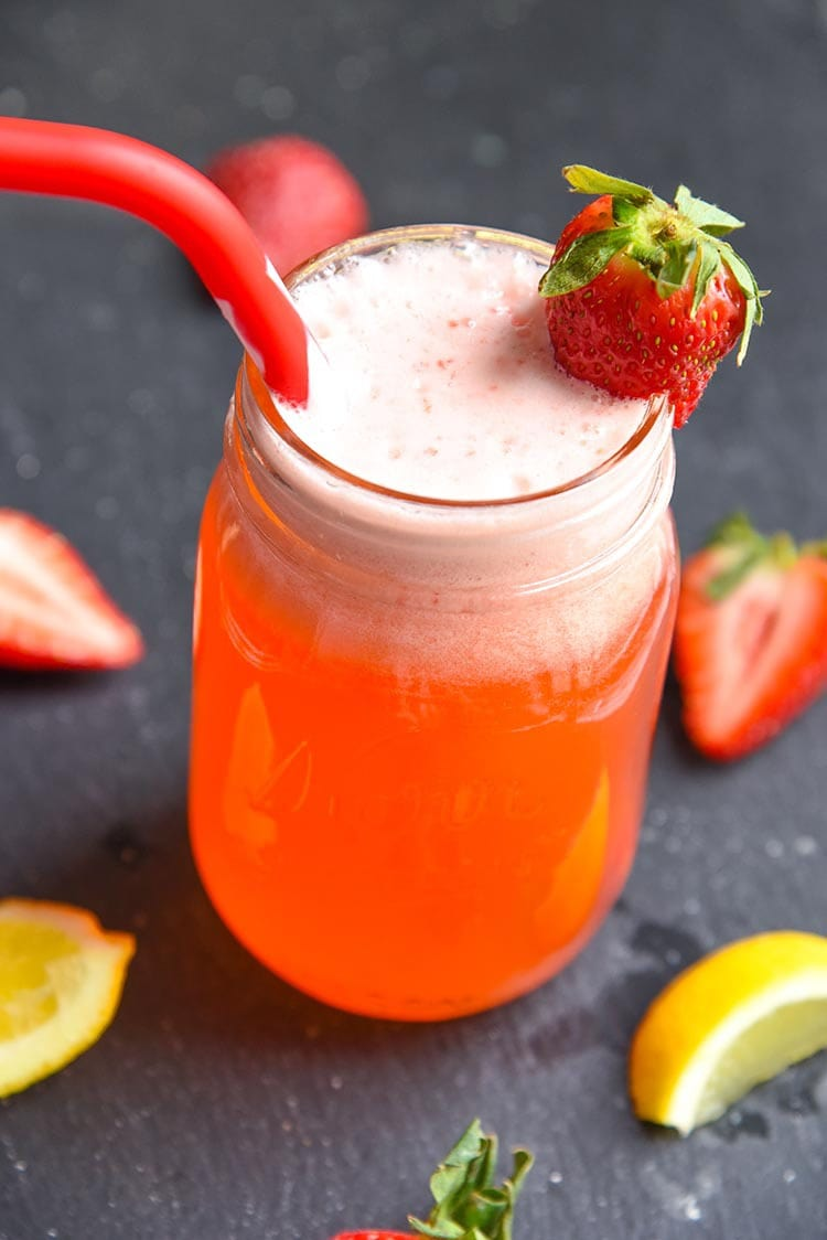 Our fresh strawberry lemonade recipe is bound to be your new favorite drink. It's great for any season, especially during the summer!