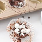 These chocolate hot cocoa cupcakes are a great way to make hot cocoa even and delicious. Great after a snow storm!