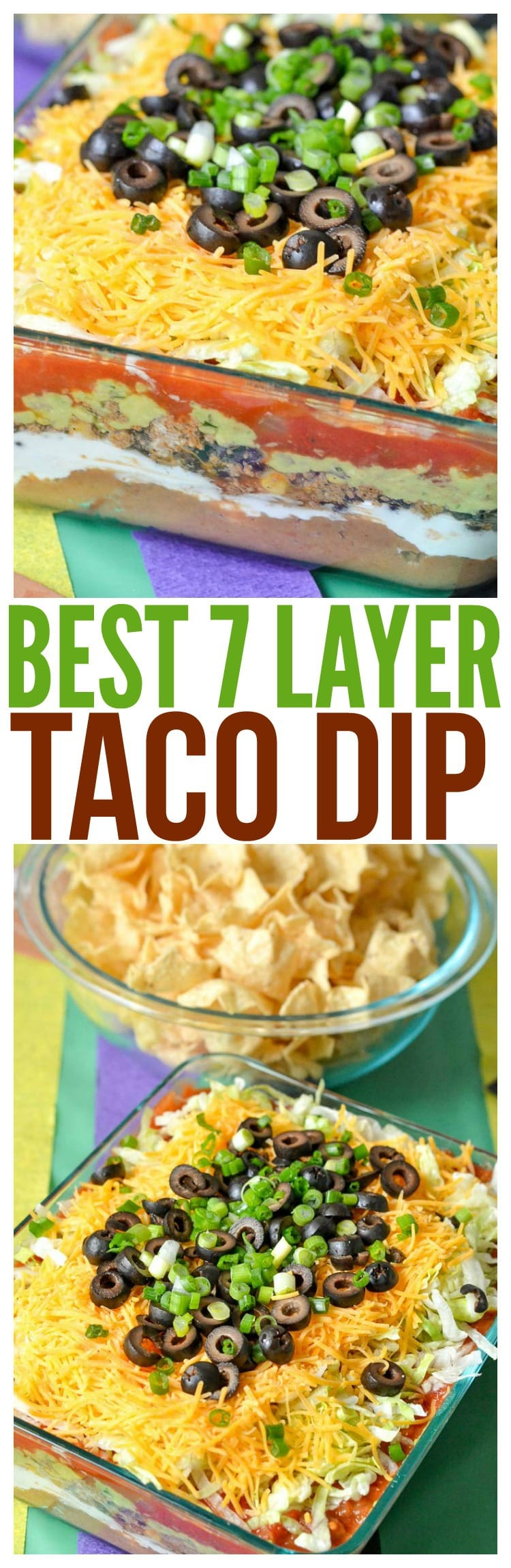 7 layer taco layer dip with meat ground beef mexican easy recipe game day party plan dessert cups mini ideas candy bars skittles popcorn