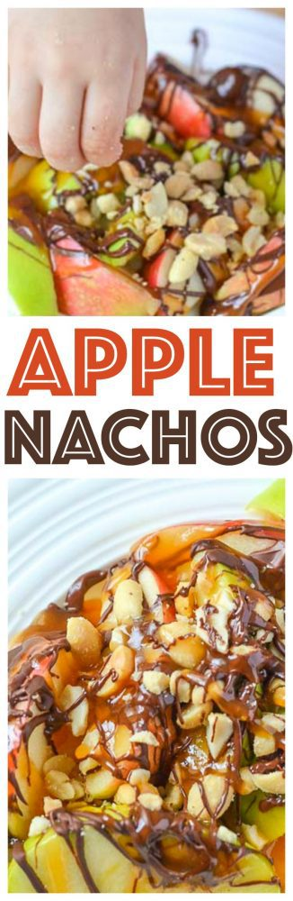 apple nachos caramel recipe easy fun kid friendly snack ideas chocolate covered peanuts and caramel sauce red green apples dessert recipes