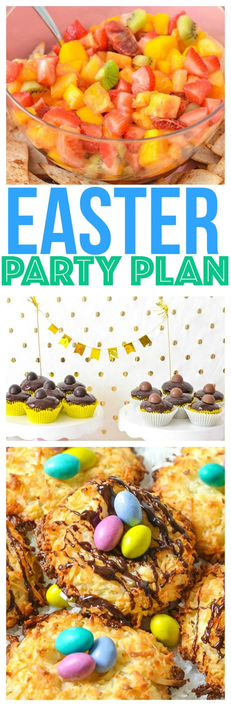 Easter Party Food Ideas Easter Recipes Dessert Easter Party Ideas Pascua chocolate cupcakes cocadas recipe blood orange lemonade fruit salsa