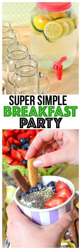 Easy Breakfast Party Yogurt Bowls fruit salad recipe breakfast party ideas breakfast party food clean eating recipes healthy eating at work