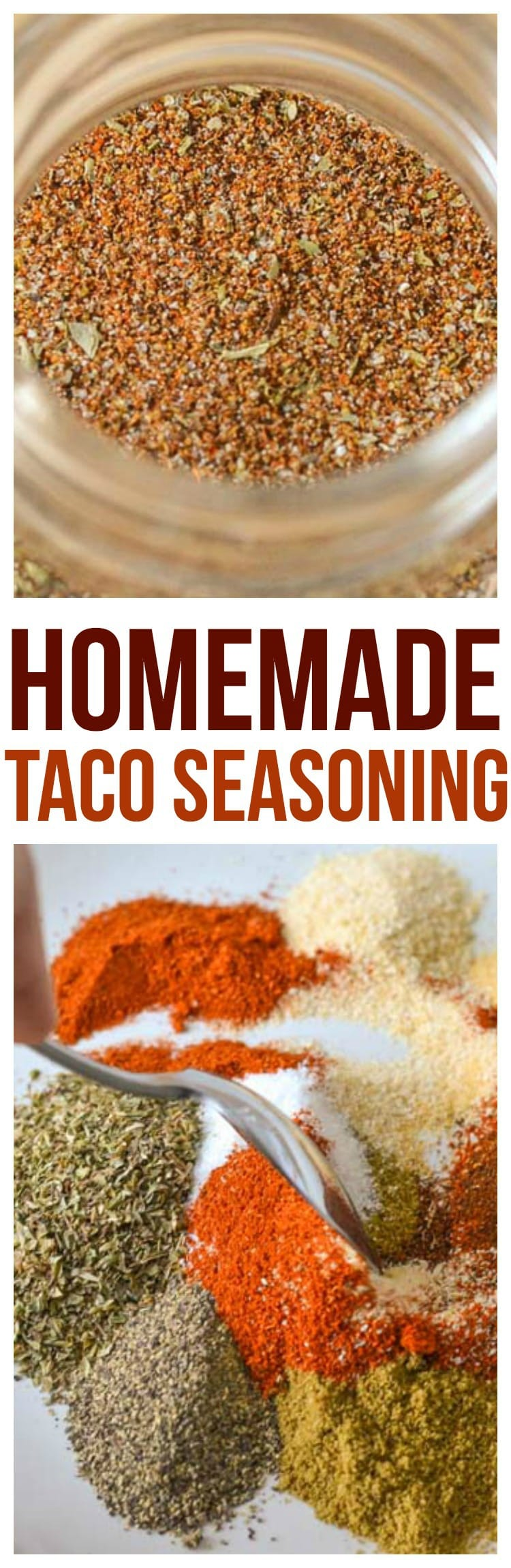 taco seasoning recipe homemade super quick and easy tex mex food at home, great for tacos, burritos, taco soup, seasoning chicken and more