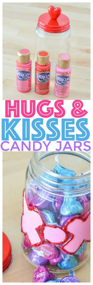 Hugs And Kisses Candy Jar For Valentine S Day Courtney S Sweets
