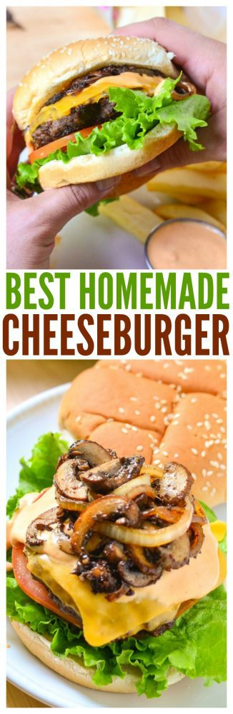 The best cheeseburger recipe! From the spicy mayo sauce crispy baked french fries this is an ultimate grilled recipe for the bbq party.
