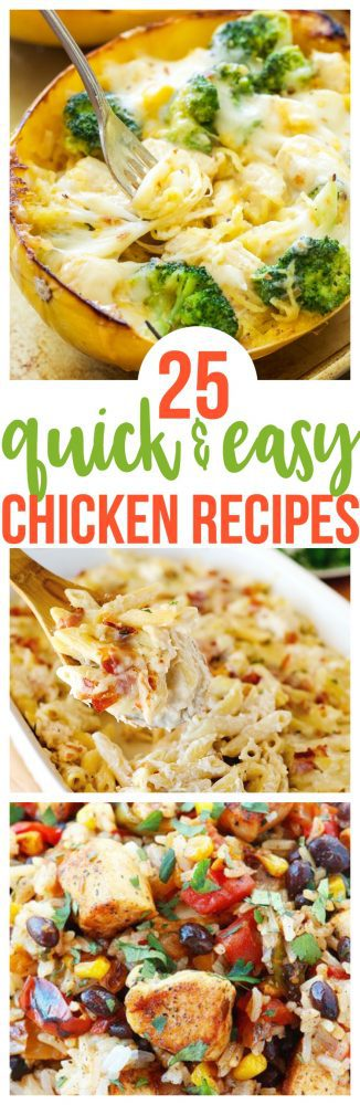 25 Quick and Easy Chicken Recipes must make meal planning your weekly meals or your workout meal plan. Family favorite for picky eaters