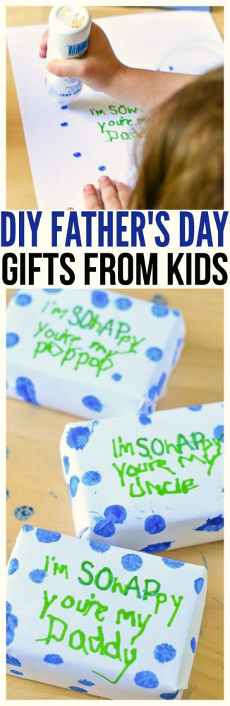 Simple Gifts idea for preschool father's day gifts fathers day gift from baby. Super simple Father's Day Craft kid friendly to create.