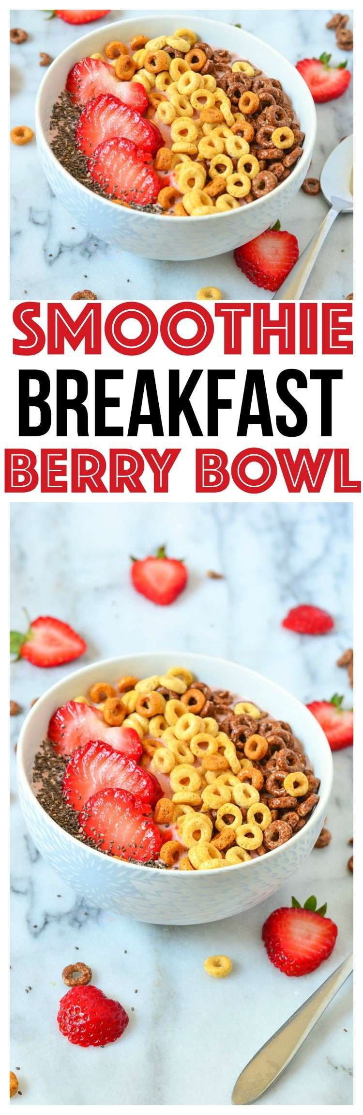 Breakfast Bowl Recipe | Strawberry Banana Smoothie berry smoothie bowl smoothie bowl recipe clean eating recipes clean eating for beginners