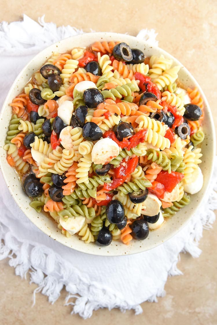 tri colotri color pasta salad mini chef mondays cold pasta salad recipe tri color rotini pasta recipes pasta salad with italian dressing easy
