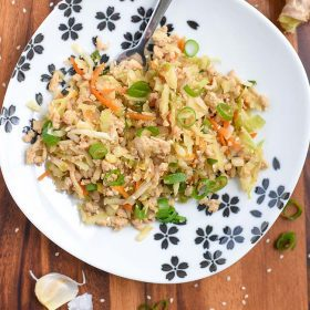 Healthy Chicken Egg Roll Bowl Recipe will be a new family favorite meal. Eat as is, or turn it into potstickers, dumplings, or even serve with lo mein! Tasty Lunch or Dinner Recipe video too!