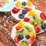 Frozen Yogurt Fruit Bark Cookies