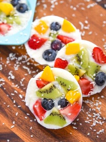 Frozen Yogurt Fruit Bark Mini Chef Mondays Recipe Whole Milk Yogurt, Organic Fresh Fruit, easy healthy snack Healthy Food Dessert Recipe