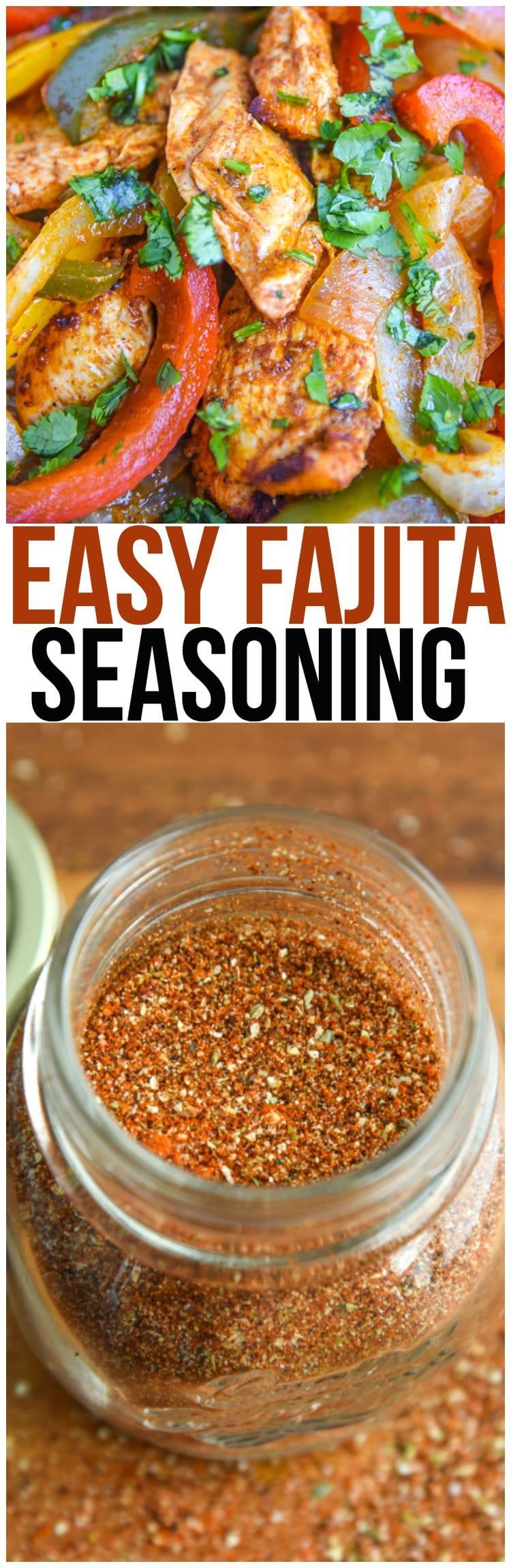 Make your own homemade fajita seasoning recipe instead of using a seasoning packet! It's perfect for chicken fajitas, steak fajitas, shrimp fajitas, or even vegetarian fajitas.