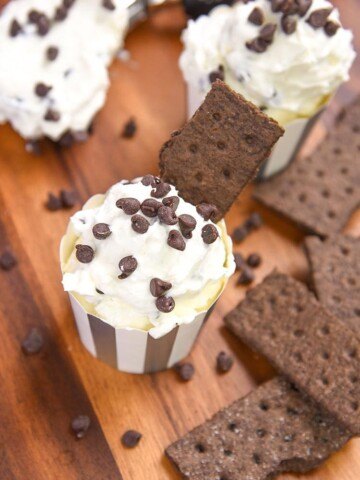 Chocolate Chip Cheesecake Dip is one tasty no bake dessert recipe that everyone will love! All the flavors you love in a traditional cheesecake recipe are in this kid-friendly recipe no bake treat!