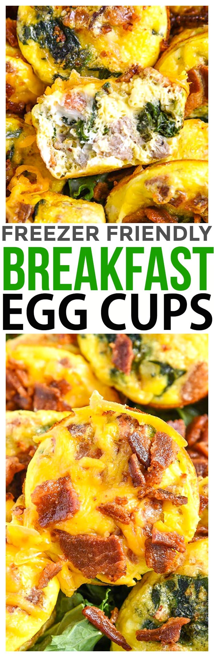 Freezer Friendly Breakfast Recipe - Serve Breakfast Egg Cups for Easter Brunch or make these easy baked egg muffins recipe for freezer friendly breakfast meal planning.