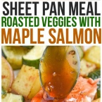 This Maple Salmon Recipe is one of my favorite baked salmon recipes! It cooks up quickly and you could even cook it from frozen! The maple sauce is so delicious and not just for salmon, you could even use it on shrimp, pork, chicken, or even beef. plated