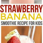 This strawberry banana smoothie with yogurt is a fun smoothie recipe for kids. Make this for your Mini Chef on Mini Chef Mondays or even let them make it themselves!