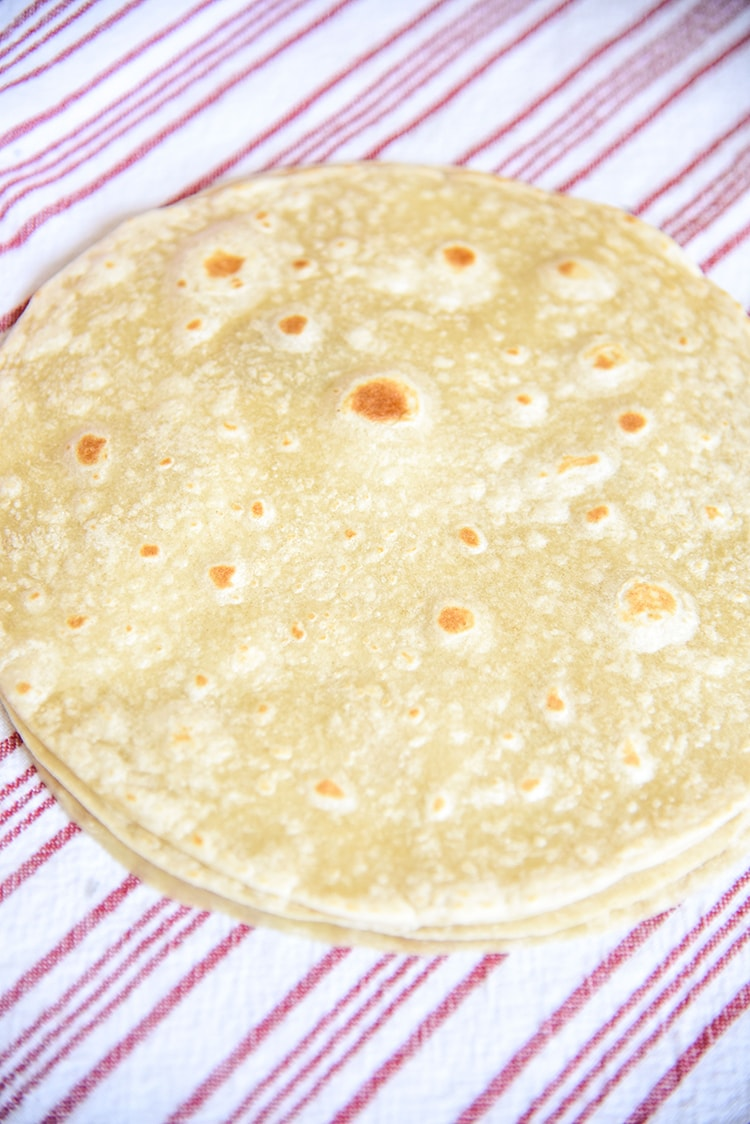 Flour Tortillas for chicken fajitas