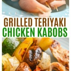 Easy Teriyaki Chicken Kabobs with veggies and our secret weaponchicken kabob marinade. This kabob recipe is great for kids and adults!