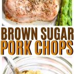 3 Ingredient Brown Sugar Pork Chops will be your new favorite pork chop recipe. If you love easy pork chop recipes this one is made for you!