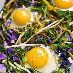 Healthy Breakfast Bake Eggs