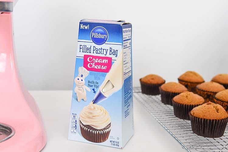 Pumpkin Cupcakes with Cream Cheese Frosting Pillsbury Pastry Bag