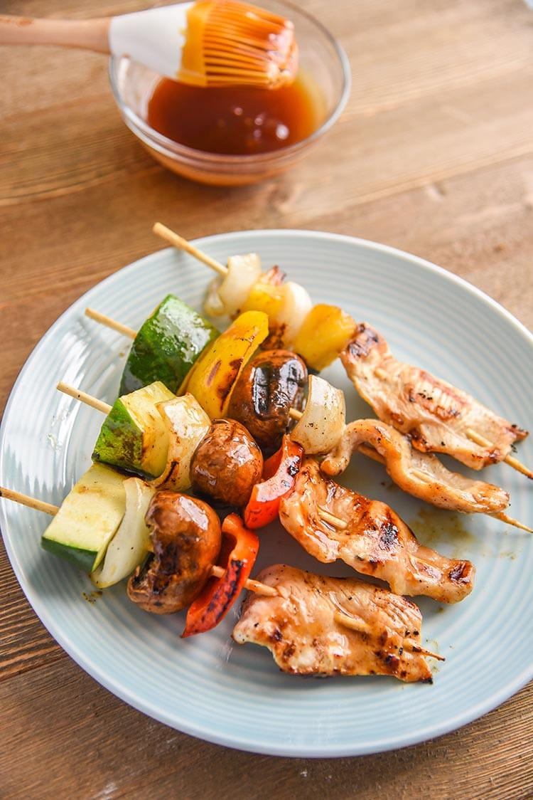 Grilled Teriyaki Chicken Kabobs With Veggies Courtney S Sweets
