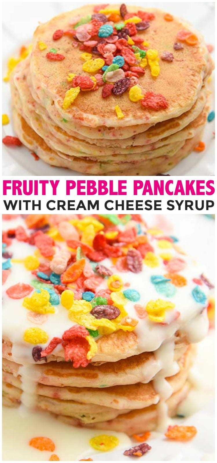 Fruity Pebble Pancakes Pinterest