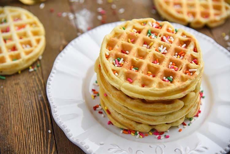 Homemade Waffles Recipe - Courtney's Sweets