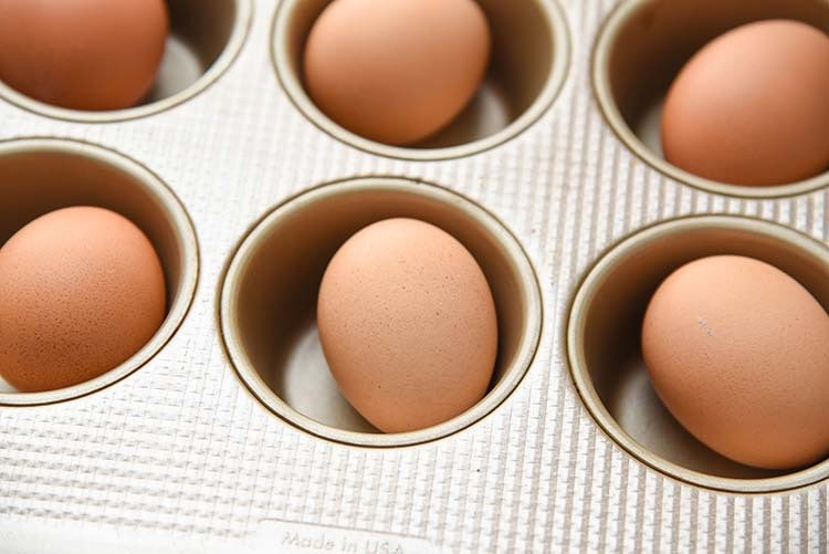 Baked Hard Boiled Eggs