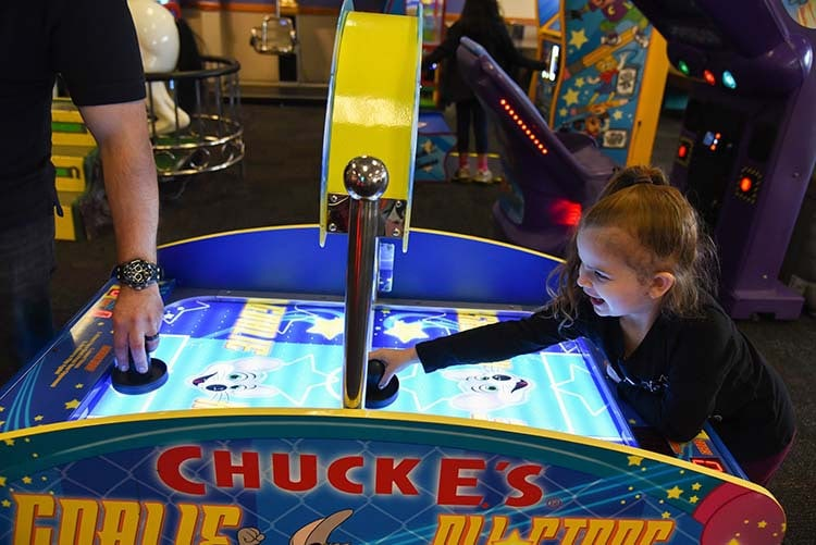 Skeeball Game at Chuck E. Cheese's