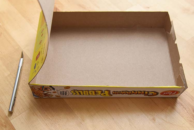 DIY Cupcake Kit Cereal Box Project - Cut