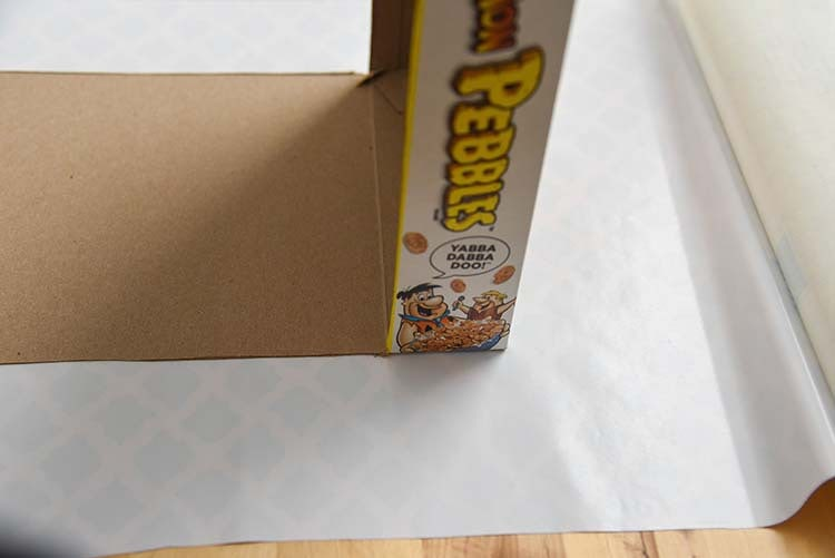 DIY Cupcake Kit Cereal Box Project - Contact Paper